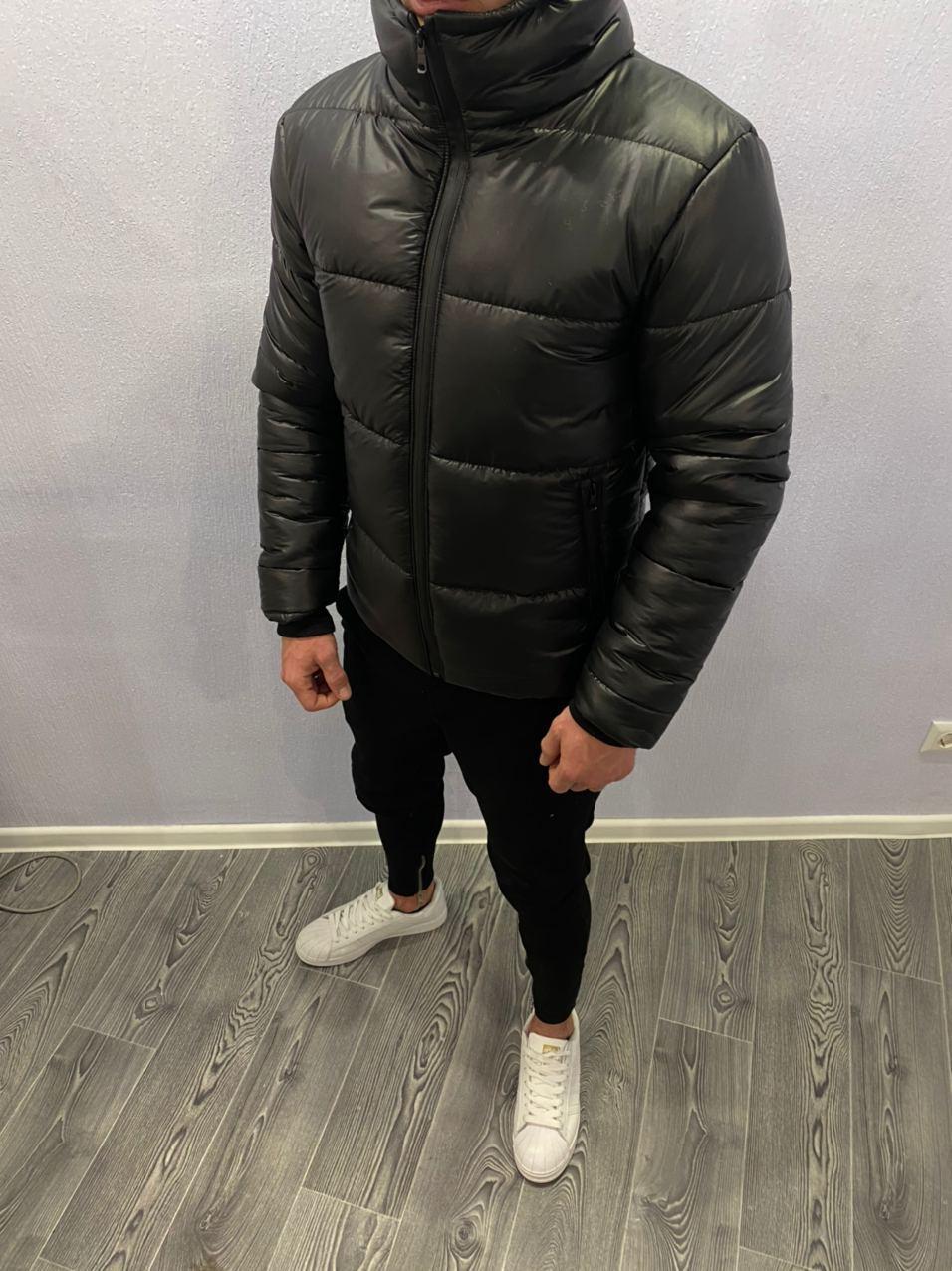 😜 Куртка - Мужскаяя зимняя куртка короткая черная