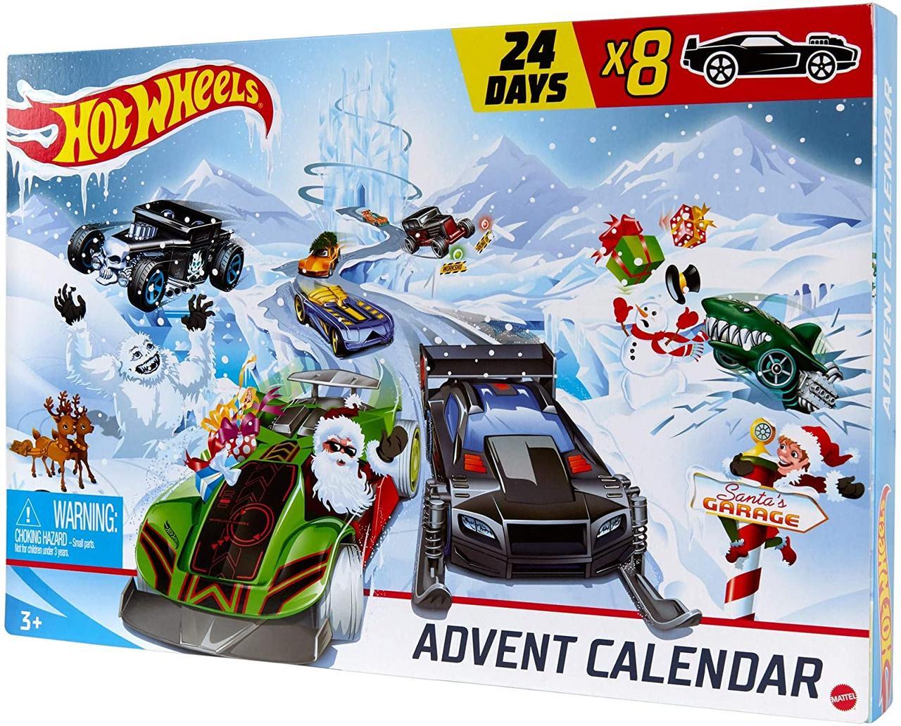 Набор Хот вилс адвент календарь 2020 Hot Wheels Advent Calendar 24 Day Holiday Surprises with Cars оригинал