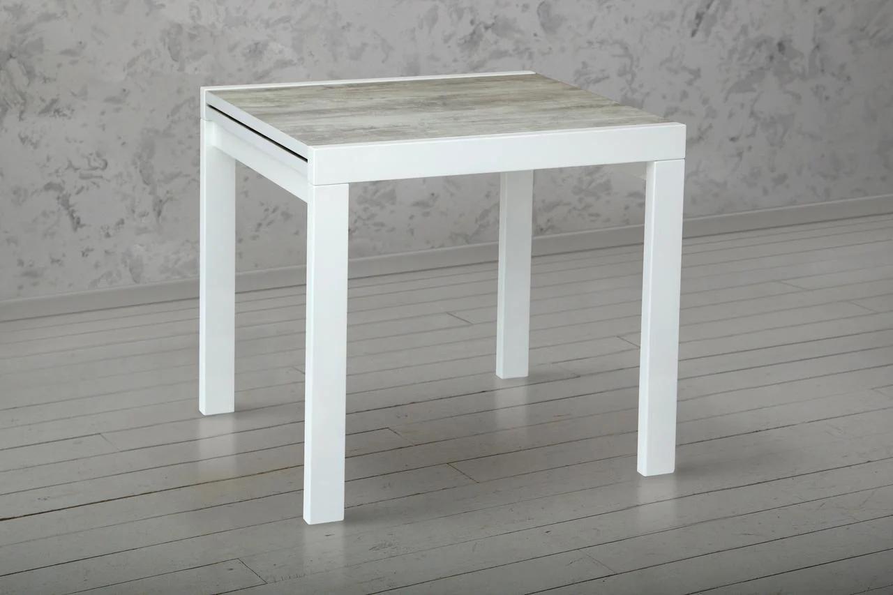 Стол-Трансформер Слайдер 100-200 см (белый/матовый, урбан)