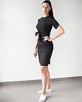 Женское медицинское платье Скарлетт цвет черный
