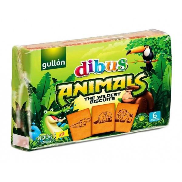 Печенье бисквитное Gullon Dibus Animals 600 г Испания