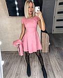 Замшевое платье с коротким рукавом + болеро 46-404, фото 3