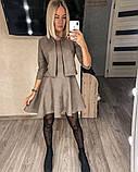 Замшевое платье с коротким рукавом + болеро 46-404, фото 5