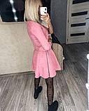 Замшевое платье с коротким рукавом + болеро 46-404, фото 7