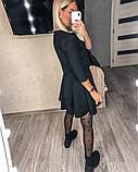 Замшевое платье с коротким рукавом + болеро 46-404, фото 8