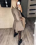Замшевое платье с коротким рукавом + болеро 46-404, фото 10