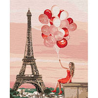 """Картина по номерам """"Красные краски Парижа"""""""