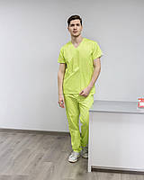Медицинский хирургический костюм мужской цвет лайм