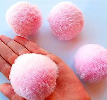 Помпон, 5 см , еко-хутро, колір св. рожевий, 1 шт.