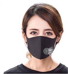 Маска багаторазова захисна для особи Fashion Mask чорна