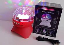 Диско куля MUSIC BALL з USB+SD+Blueеtooth L-740 (60 шт/ящ)
