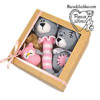 Подарочный набор на рождение крещение для девочки, Бэби бокс Мини 3 товара, подарок  новорожденному