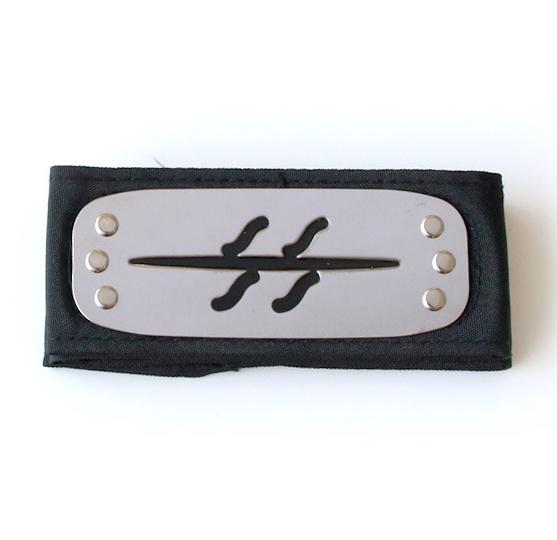 """Повязка (налобный протектор) Кисаме Хошигаки с символикой """"Перечеркнутого скрытого тумана""""  - Naruto Cosplay"""