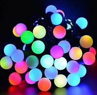 Гирлянда черный шнур 10мм 80 мелких  ламп шарики твинки мультик, фото 1