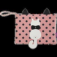 Папка А4 PUSSY CAT 33x24x15 см розовая (декор: кот с подвижным хвостом)