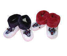 Детские домашние теплые сапожки из искусственного мутона от 11 до 19 см по стельке в ассортименте