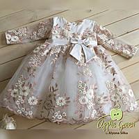 Платье нарядное кружевное детское, фото 1