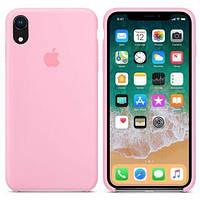 Чехол силиконовый на айфон Silicone Case для iPhone XR light pink розовый