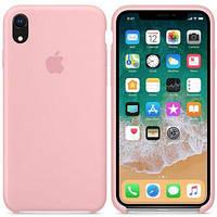 Чехол силиконовый на айфон Silicone Case для iPhone XR pink розовый