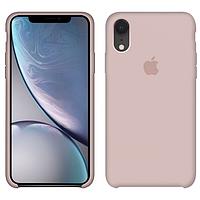 Чехол силиконовый на айфон Silicone Case для iPhone XR pink sand пудра