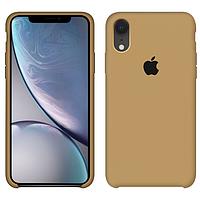 Чехол силиконовый на айфон Silicone Case для iPhone XR gold золотой