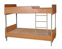 Кровать 2-ярусная на металлическом каркасе
