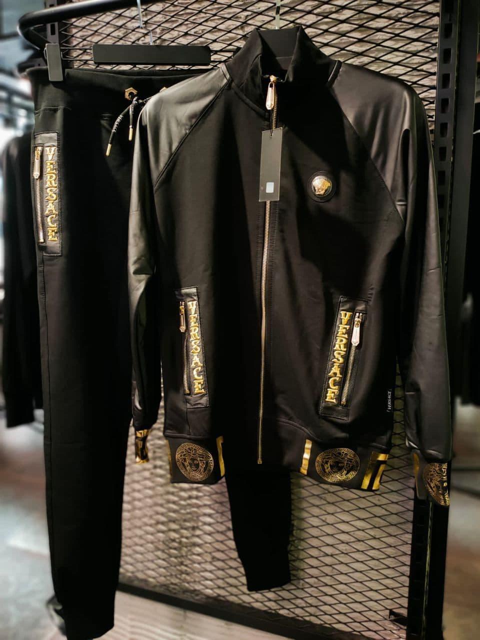 Мужской спортивный костюм Versace CK1535 черный