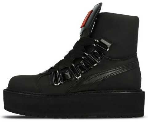 Женские демисезонные ботинки Puma X Fenty by Rihanna Sneaker Boot (Premium-class) черные