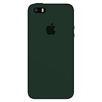 Чехол силиконовый на айфон Silicone Case для iPhone 5 / 5S / SE 2016 forest green зеленый