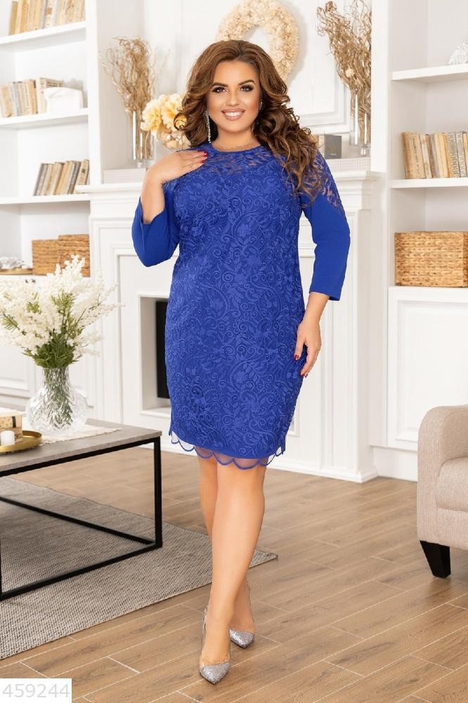 Нарядное женское платье батал большого размера
