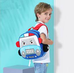 Детский плюшевый рюкзак сумка для мальчика 2-4 года POLICE