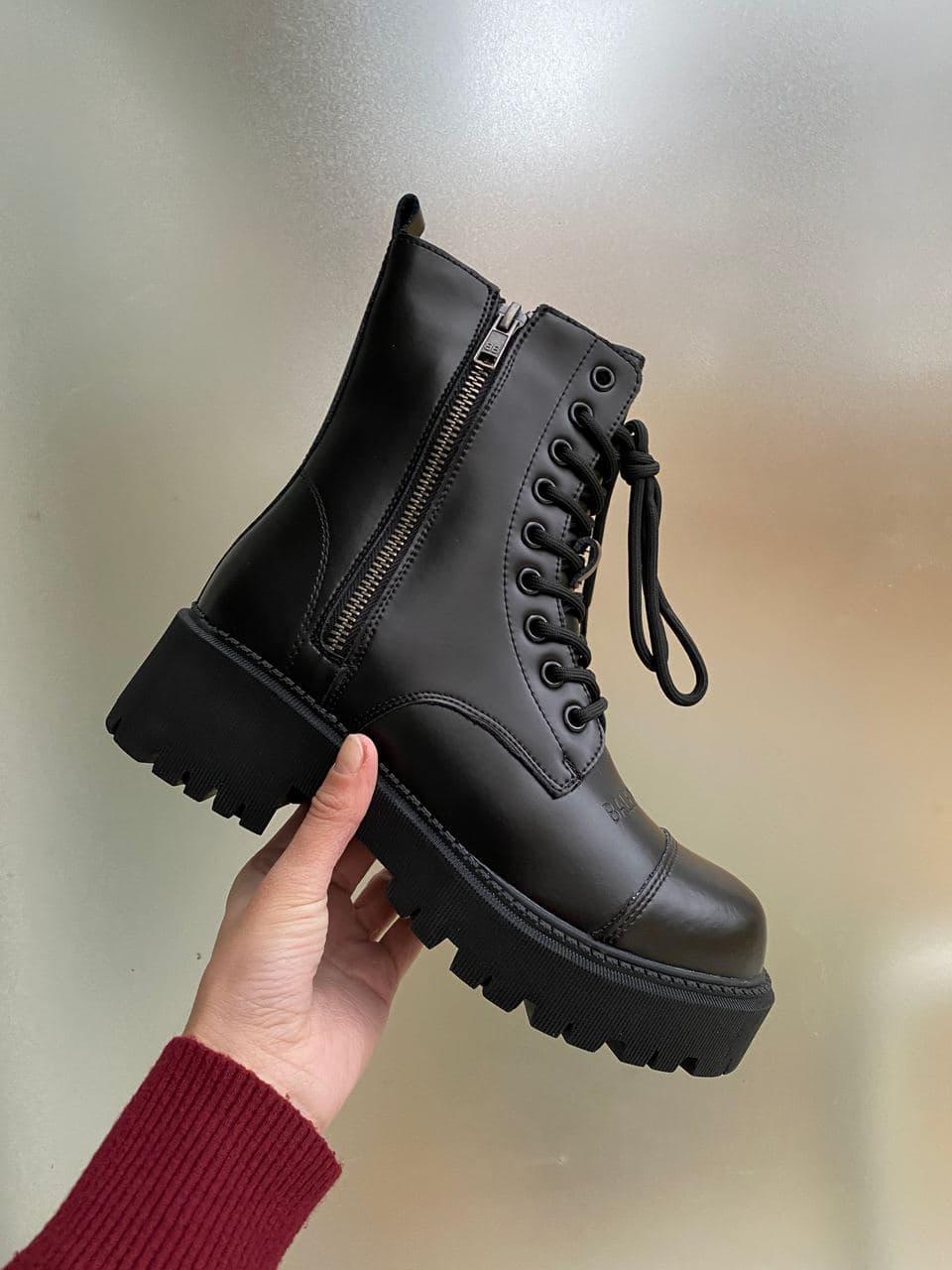 Женские ботинки Balenciaga Tractor PA305 черные