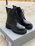 Женские ботинки Balenciaga Tractor PA305 черные, фото 2