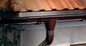 Водостічна система металева кругла Galeco Stal 120 / 90 з універсальним регульованим кутом