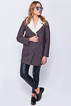 Пальто женское Грейс Джинс коричневый, фото 2