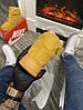 Мужские зимние кроссовки Nike Air Force 1 High (Premium-class) песочные с мехом, фото 2
