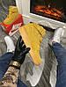 Мужские зимние кроссовки Nike Air Force 1 High (Premium-class) песочные с мехом, фото 6