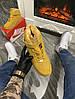 Мужские зимние кроссовки Nike Air Force 1 High (Premium-class) песочные с мехом, фото 7