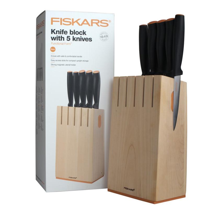 Набор кухонных ножей Fiskars Functional Form из 6 предметов (1014211)