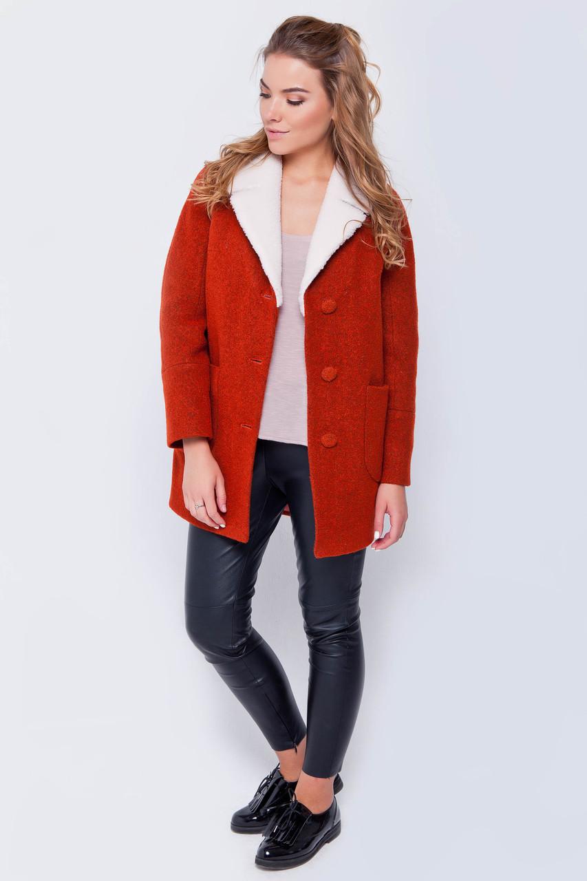 Пальто женское Грейс красный