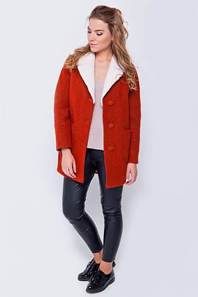 Пальто женское Грейс красный, фото 2