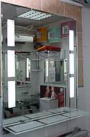 Зеркало для ванной влагостойкое с подсветкой и полкой 60 х 70 см ф10, фото 1