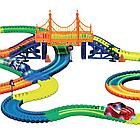Детский светящийся гибкий трек Magic Tracks 360 деталей на 2 машинки   Детский гоночный трек, фото 6