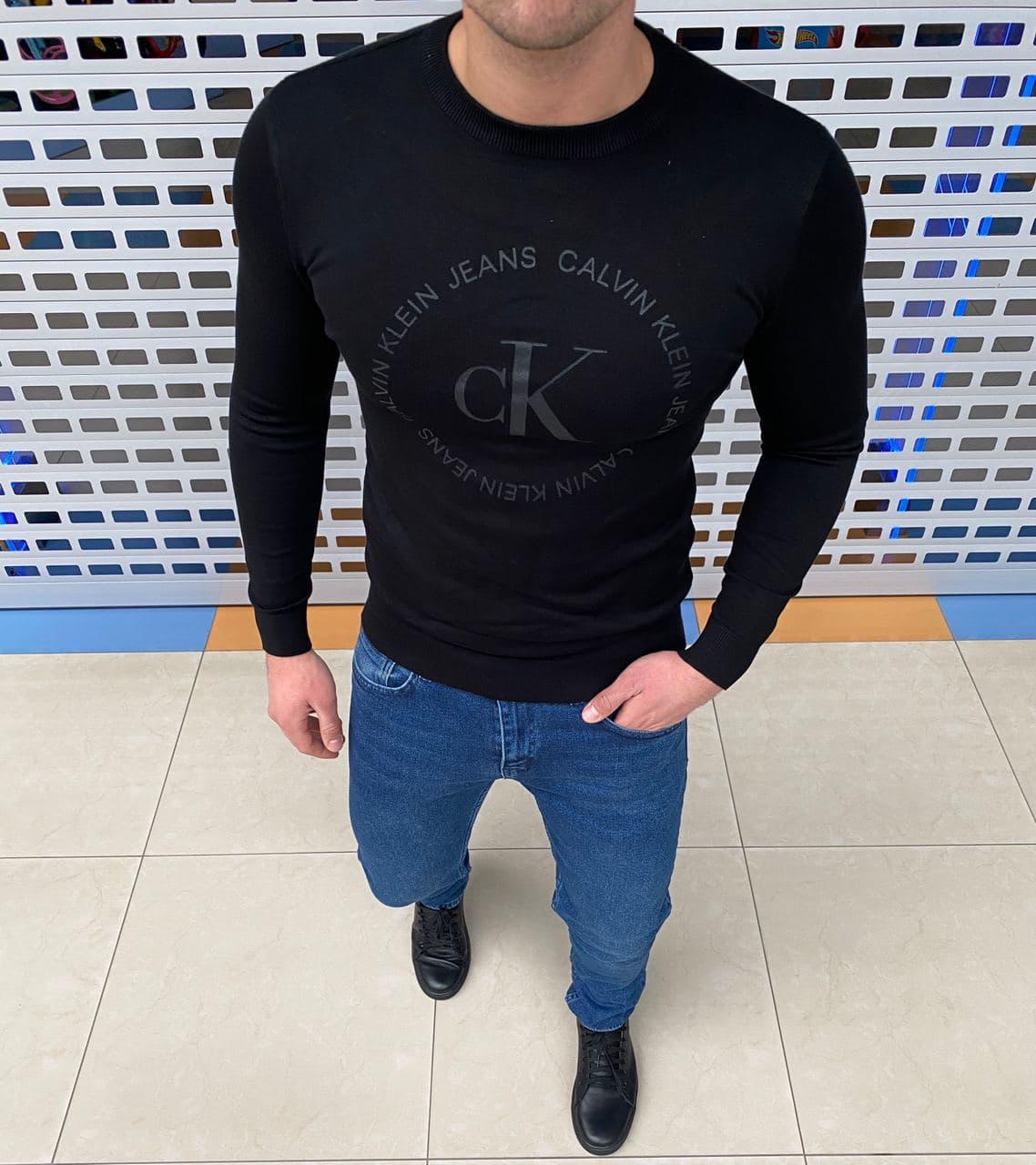 Мужская кофта Calvin Klein H1112 черная