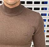 Мужской гольф Lacoste H1115 коричневый, фото 2