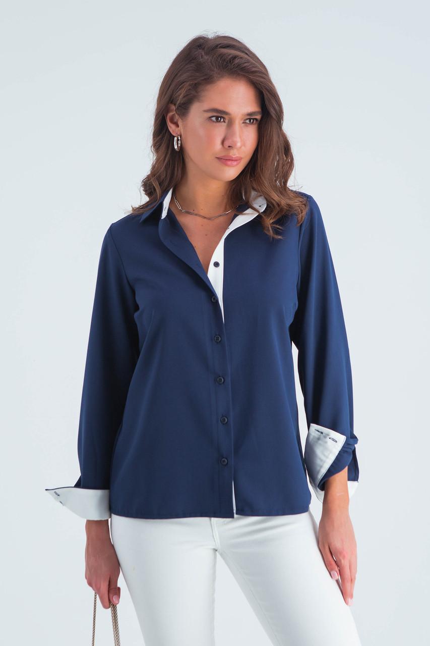 Рубашка женская  Ноа синий