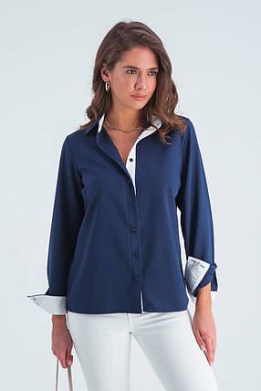 Рубашка женская  Ноа синий, фото 2