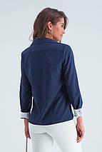 Рубашка женская  Ноа синий, фото 3