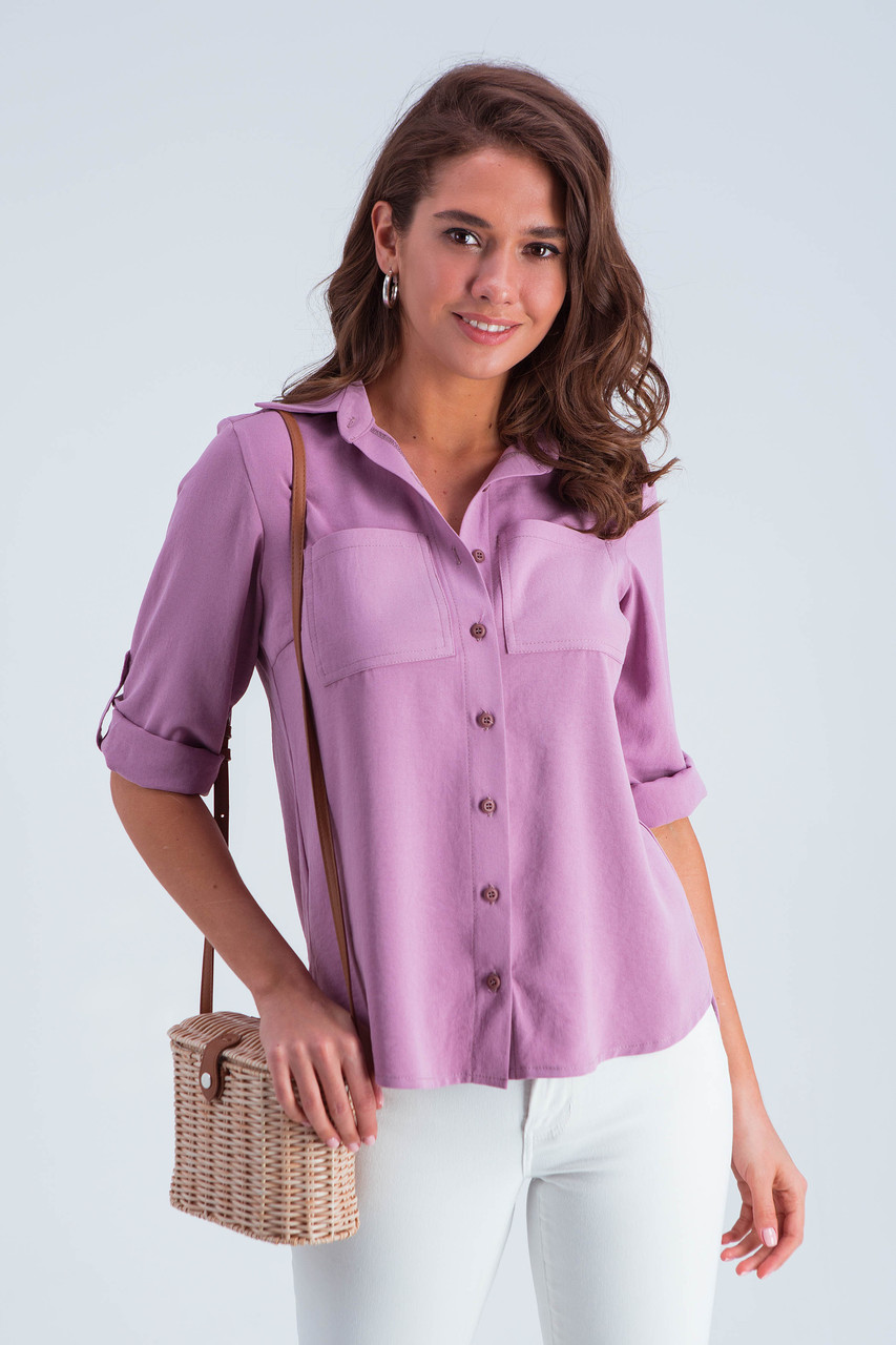 Рубашка женская  Амалия сирень