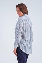 Рубашка женская  Аврора серый ср.полоска, фото 3